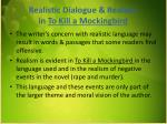 realistic dialogue realism in to kill a mockingbird