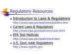 regulatory resources