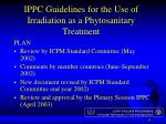 ippc guidelines for the use of irradiation as a phytosanitary treatment