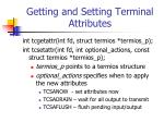 getting and setting terminal attributes