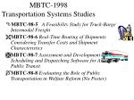 mbtc 1998 transportation systems studies