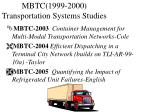 mbtc 1999 2000 transportation systems studies