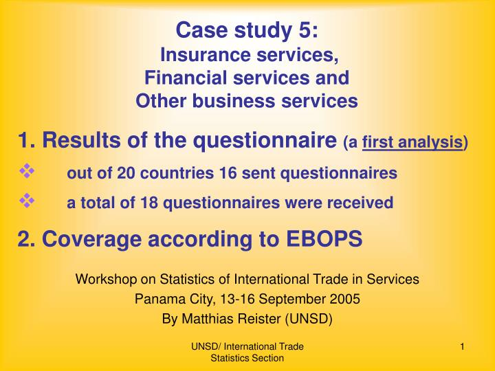 a financial case study on insurance The 2007–2009 financial crisis: an erosion of ethics: a case study  federal deposit insurance  to the financial crisis the heart of the case study is the.