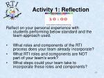 activity 1 reflection