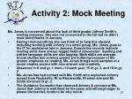 activity 2 mock meeting
