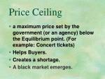 price ceiling