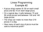 linear programming example 2