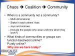 chaos coalition community