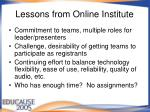 lessons from online institute