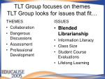 tlt group focuses on themes tlt group looks for issues that fit