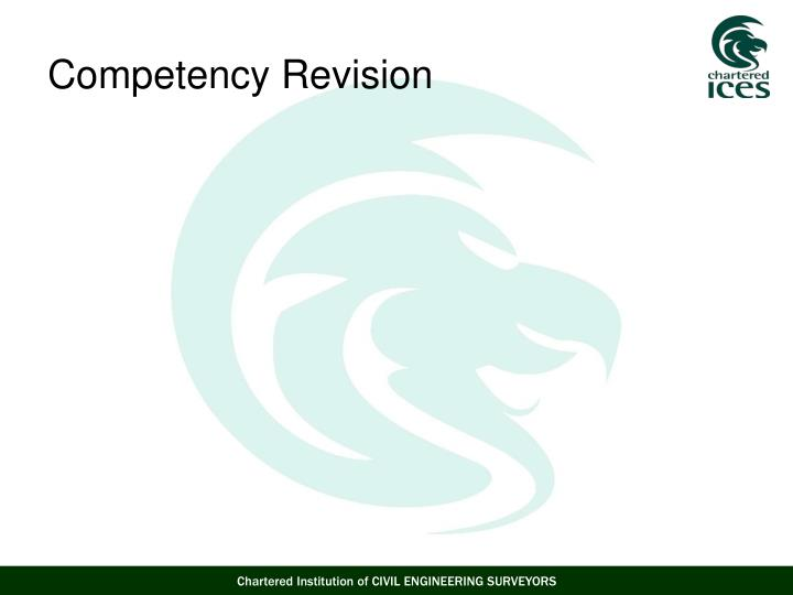 Competency Revision