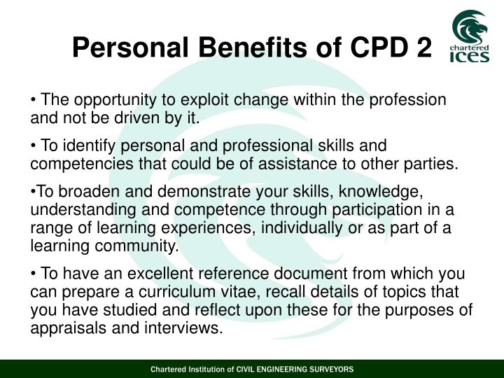 The opportunity to exploit change within the profession and not be driven by it.