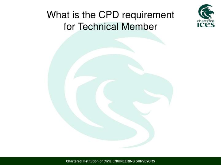 What is the CPD requirement