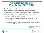 collaborative projects priority two 2012 2017