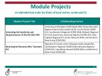 module projects in alphabetical order by state of lead center continued 3