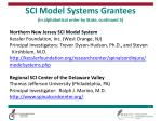 sci model systems grantees in alphabetical order by state continued 5
