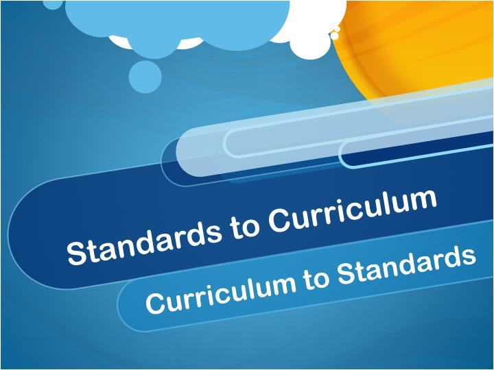 standards to curriculum n.