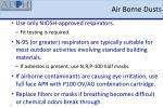 air borne dusts
