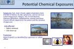 potential chemical exposures