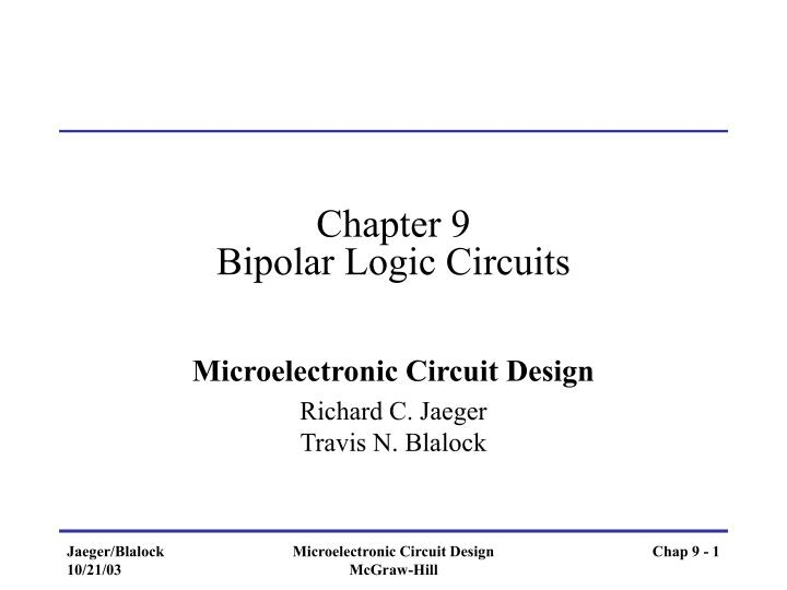 chapter 9 bipolar logic circuits n.