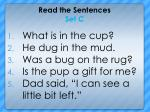 read the sentences set c