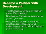 become a partner with development