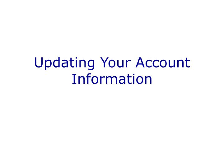updating your account information n.