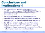 conclusions and implications 1