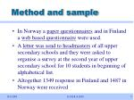 method and sample