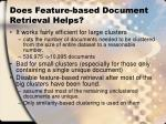 does feature based document retrieval helps