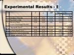 experimental results i
