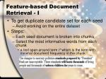 feature based document retrieval i
