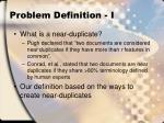 problem definition i