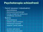 psychoterapia schizofrenii