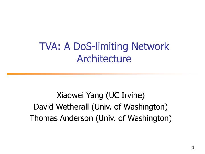 tva a dos limiting network architecture n.