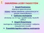 zaburzenia liczby fagocyt w