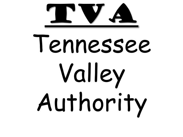 tva tennessee valley authority n.