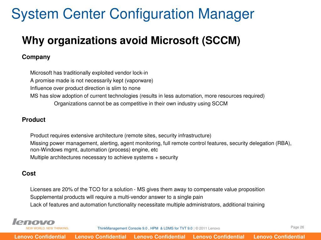 PPT - ThinkManagement Console 9 0 SP2 PowerPoint