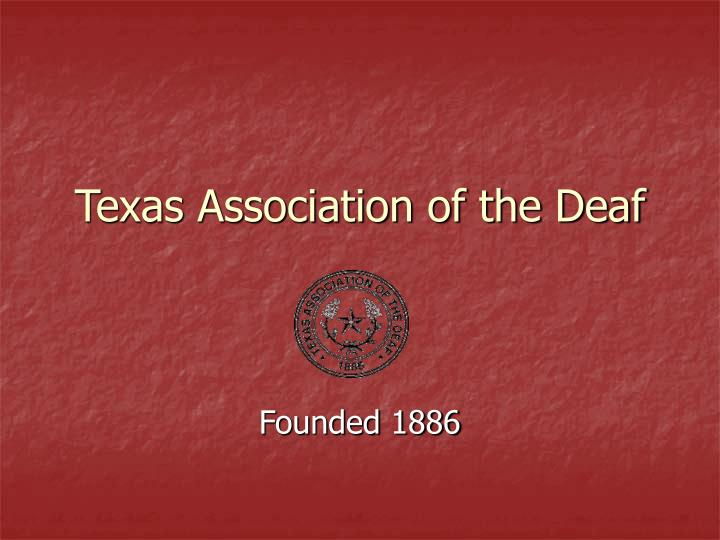 texas association of the deaf n.