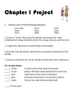 chapter 1 project
