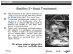 section 2 heat treatment