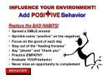 add posi ive behavior