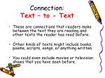 connection text to text