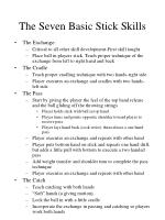 the seven basic stick skills