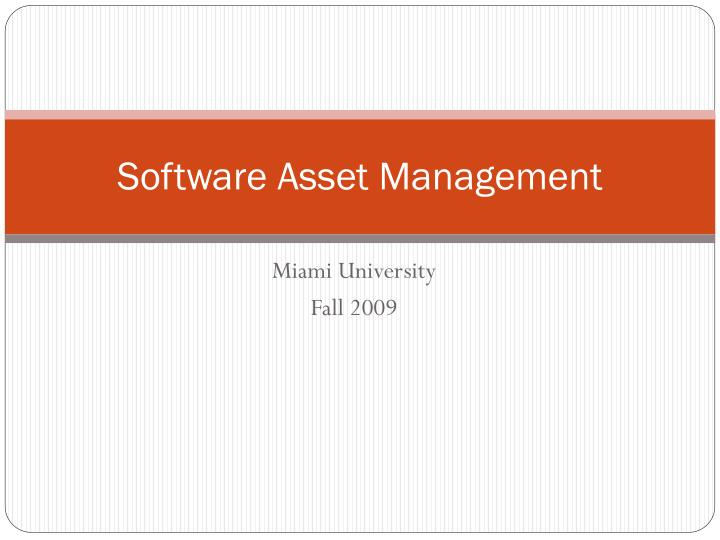 software asset management n.