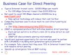 business case for direct peering