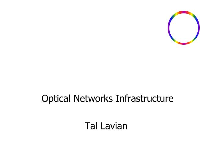 optical networks infrastructure tal lavian n.