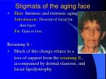 stigmata of the aging face