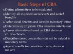 basic steps of cba