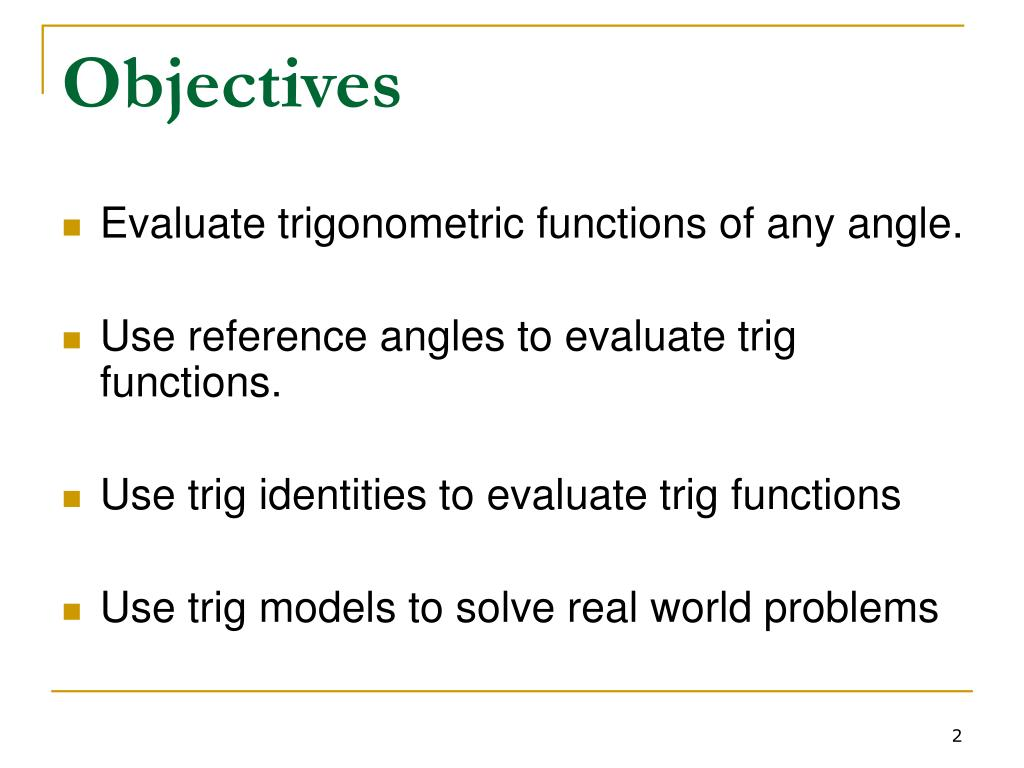 PPT - 1 4 - Trigonometric Functions of Any Angle PowerPoint